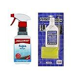 Fugenfrisch weiss 250 ml Set SB mit Reinigungsschwamm mit Pinsel und Fugen Reiniger 500 ml Sprühflasche