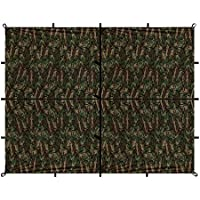 Aqua Quest Safari Sil Tarp - 100% Waterproof & Lightweight Nylon Material - 13 x 10 ft Large - Compact, Versatile, Durable Backpacking Tarpaulin - Camo by Aqua Quest - Patio Swing Canopy