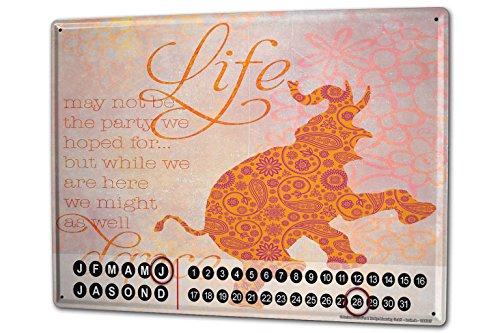 Calendario perpetuo Refranes Elefante danza vida Metal Imantado