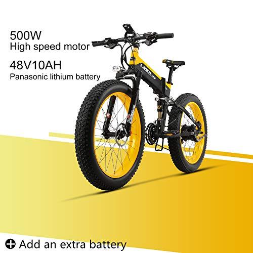 LANKELEISI XT750 Plus 48V10AH 500W Motor Nueva Bicicleta eléctrica Potente 26 '' 4.0 Venta al por Mayor de Llantas Ebike...