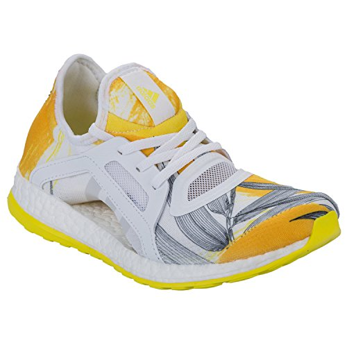 Womens adidas Womens Pure Boost X Running Shoes in White yellow -...
