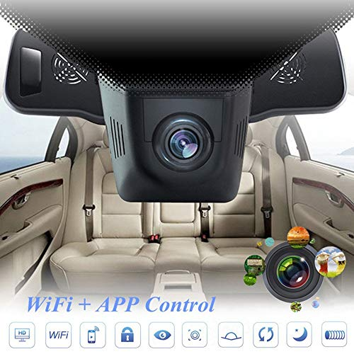 Lonshell Autokamera/Dashcam, versteckt, DVR, Full-HD,1080p,170°Ultra-Weitwinkel, Nachtsicht,Schwarz.  200 Bl Mount