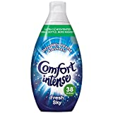 Comfort Intense Sky Fabric Conditioner, 3.42 L - 228 Washes (38 Washes x Pack of 6)
