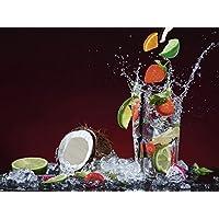 Vetro - Immagine Artland Quadro su tela Generi Alimentari Bevande