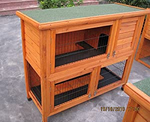 41 Double Decker Rabbit Guinea Pig Hutch Hutches by BUNNY BUSINESS