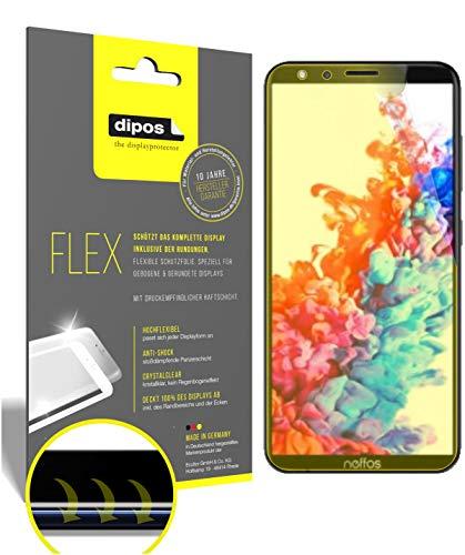 dipos I 2X Schutzfolie 100prozent passend für TP-Link Neffos C7 Lite Folie I 3D Full Cover Bildschirmschutzfolie