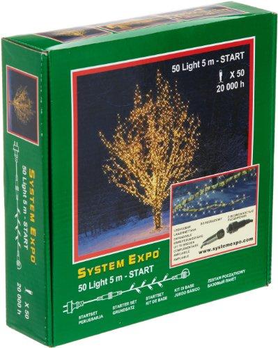 System Expo 484-01 Startlights Guirlande lumineuse Blanc 50 diodes/500 cm