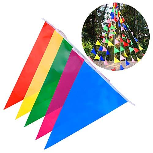 nting Flags Multicolor Outdoor Bunting Festival Hochzeitsfest Banner Dekoration Garten Outdoor Dekoration. ()