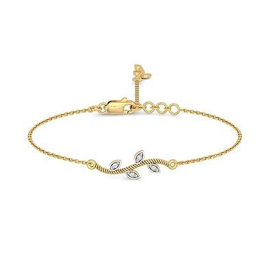 Buy BlueStone 14k 585 Yellow Gold and Diamond Elizabeth Charm