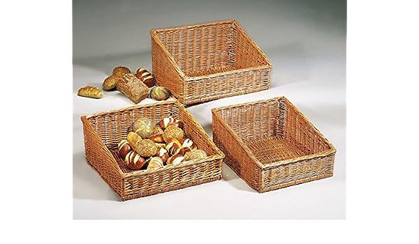 Home-ever Set Of 6 Round Willow Wicker Bread Basket Storage Trays 20X20X8 HE40