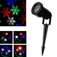 GESIMEI LED Projector Lamp Christmas Tree Decor Snowflake Flood Lights from GESIMEI