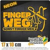 KIWISTAR FINGER WEG! - Nicht anfasen! IN 15 FARBEN - Neon + Chrom! Sticker Aufkleber
