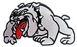Iron on Bügel Aufnäher Aufbügler Patches Flicken Sticker Bügelbilder Applikation Kleidung Biker Pitbull Bulldog 9,5cm