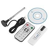 VBESTLIFE USB 2.0 Digital TV Tuner,HDTV Stick Receiver mit Antennenfernbedienung,unterstützt DVB-T2, DVB-T, DV VHF-/UHF-Band Stereo/Dual Channel Sound