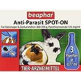 beaphar 11136 Anti-Parasit Spot-On, Für Kleinnager & Zierkaninchen mit 300g-700g