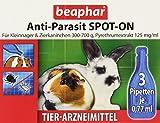 Anti-Parasit Spot On für Nager | Gegen Milben, Flöhe & Läuse | Schutz vor Parasiten | Für Kleintiere mit 300-700 g Körpergewicht | 3x0,77 ml Pipetten