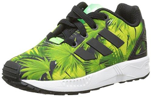 adidas Zx Flux, Unisex Baby Babyschuhe - Lauflernschuhe, Mehrfarben (Black/Green), 24
