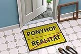 Bedruckte Fußmatte - 'Ponyhof' in 3 Größen waschbar bei 40°, Größe der Fußmatte:40 x 60 cm