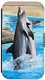 FioMi Flip Cover Hülle Samsung Galaxy S3 Mini Motiv 628 Delfin im Meer Delphin Blau Grau Handy Tasche Etui Schutzhülle Flipcover Case Wallet Bookflip Buchflip (628)