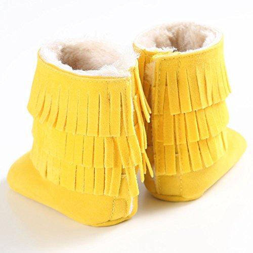 Moresave , {Chaussures premiers pas pour bébé (garçon) Jaune