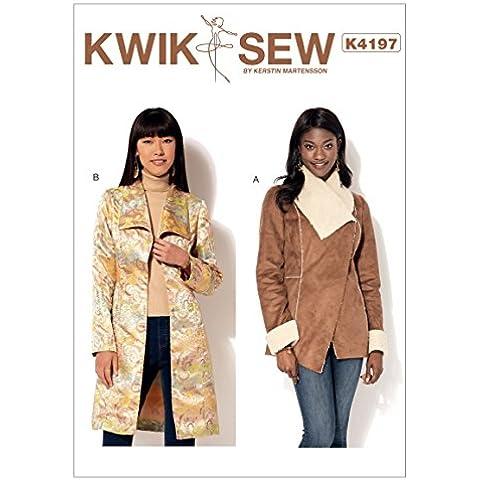 Kwik Sew Patterns Kwik Sew Pattern k4197os, Giacca e cappotto da donna, taglie: XS-XL, Multi Colore