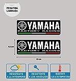 Pegatina Compatible con Yamaha Factory Racing LAMINADA Impresion 2 Unidades