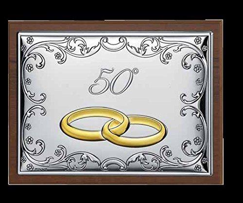 Laminierte Regale (Schmuckkästchen 50Jahrestag Hochzeit GBG Linie Seven cm 13x 18x 4,5Holz und laminierte Bi Silber Made in Italy)