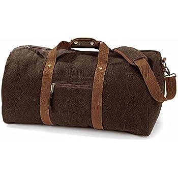 11965eb0a7 Quadra - sac de voyage toile vintage look usé - DESERT CANVAS HOLDALL -  QD613 - coloris marron brun