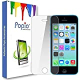 POPIO Tempered Glass for Apple iPhone 5 / 5S / SE (Transparent)-Edge to Edge Full Screen Coverage with easy installation kit