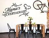 tjapalo® S-pkm86 Wandtattoo Küche Wandaufkleber kochen Esszimmer Spruch Mama's Restaurant (B100 x H48 cm)