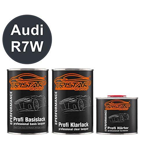 Preisvergleich Produktbild TRISTARcolor Autolack Set Dose spritzfertig Audi R7W Mazeppa Grey Metallic / Wizzard Grey Perl Basislack + 2K Klarlack 2, 5L
