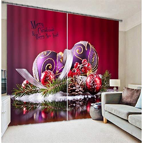 Shi18sport Weihnachten Tür Vorhänge Zimmer Verdunkelung Vorhänge 3D Cartoon Gedruckt Kinder Fenster Decor Vorhänge Für Kinder Schlafzimmer Wohnzimmer, W360Cm H265M