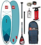 Red Paddle Co 2018 Ride 9'8 Inflatable Stand Up Paddle Board + Bag, Pump, Paddle & Leash Paddle Option - Alloy 3-Piece