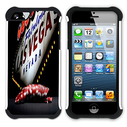 Graphic4You Las Vegas USA United States of America Postkarte Aussicht Hart + Weiche Kratzfeste Hülle Case Schale Tasche Schutzhülle für Apple iPhone SE / 5 / 5S Design #3