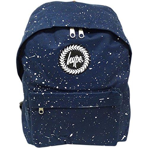Hype Mens Luci Logo Zaino, Blu Splatter Blu / Bianco