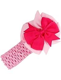 Stirnbaender - SODIAL(R)Stirnbaender Bowknot Haar Accessoires Maedchen Kleinkind Haarband (rosa)