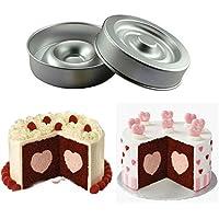 aliciashouse a forma di cuore layer Cake Pan Mold in alluminio Cake Pans 9 inch