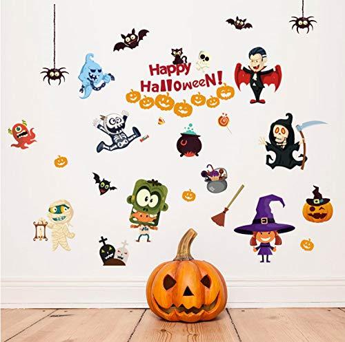 tonywu Aufkleber Halloween Kleiner Teufel Wandaufkleber Glasaufkleber Fensteraufkleber Kindergarten Dekoration Kinderzimmer Wandaufkleber