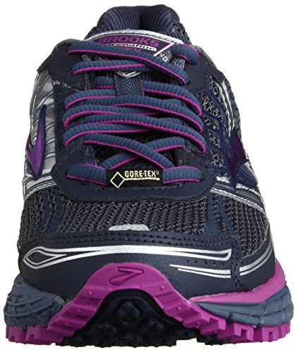 Brooks - Adrenaline Asr 11 Gtx Women, Scarpe Da Corsa da donna Nero ( Vintage Indigo/Midnight/Purple Cactus Flower)