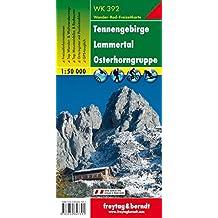 Carte de randonnée : Tennengebirge, Lammertal, Gosaukamm