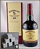 Redbreast 12 Jahre irischer Whiskey mit Original Kühlsteinen von Rosenstein & Söhne im Stoffbeutel, kostenloser Versand