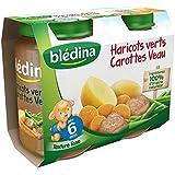 Bledina Pots Sales Haricots Verts Carottes Veau 2X200G 6mois - ( Prix Unitaire ) - Envoi Rapide Et Soignée