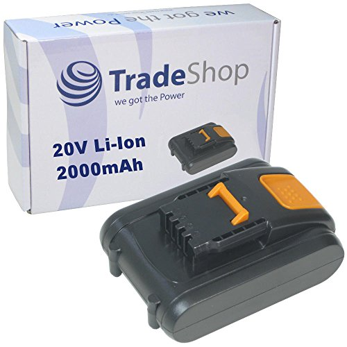 Preisvergleich Produktbild Trade-Shop Premium Li-Ion Akku 20V / 2000mAh / 40Wh ersetzt Worx WA3528, WA3553.2. WA3551.1 für Worx WX372 WX372.1 WX390 WX390.1 WX390.31 WX523 WX523.9 WX678 WX678.9 WX292.9 WG151.5 WG251.5 WG540