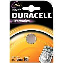 Duracell Botón de la célula de litio, CR2016 / DL2016 / 5000LC / K-CR2016 / E-CR2016 / SB-T11 / 280-206, 3V - 1 piezas
