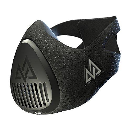 TrainingMask Erwachsene Training Mask 3.0 Trainingsmaske, Schwarz, M/70-120kg