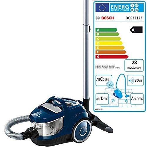 Bosch - bgs22123 - Aspirateur sans sac aadc 80db bleu Easyy'y Bleu