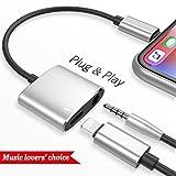 Blitz zu 3.5mm Adapter Adapter für iPhone X 10 8/8 Plus 7/7 Plus iPad Stecker AUX Konverter Kopfhörer Adapter Zubehör Kopfhörer Kabel Splitter Zubehör Metall Audio Jack Kopfhörer Kabel Ohrhörer Adapter Unterstützung iOS 11 oder später (Schwarz)