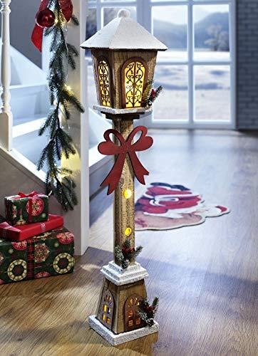 Beleuchtete Laterne mit Fuß LED Dekoleuchte Weihnachten Christmas Lichtelement Weihnachtsdeko Deko XMAS -
