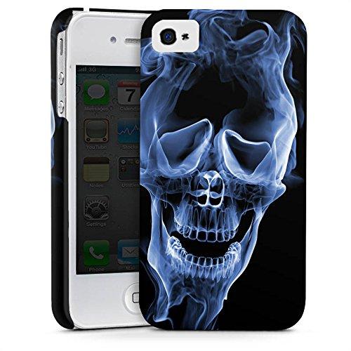 Apple iPhone X Silikon Hülle Case Schutzhülle Halloween Skull Rauch Premium Case glänzend