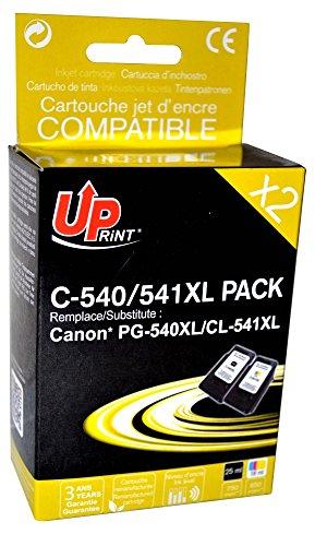 Pack de 2 cartouches compatible CANON PG-540XL-CL541XL - Noir + Cyan, Magenta, Jaune - marque : UPrint C-540XL PACK - Imprimantes : PIXMA MG2150 / PIXMA MG2250 / PIXMA MG3150 / PIXMA MG3250 / PIXMA MG3550 / PIXMA MG4150 / PIXMA MG4250 / PIXMA MX375 / PIXMA MX395 / PIXMA MX435 / PIXMA MX455 / PIXMA MX475 / PIXMA MX515 / PIXMA MX525 / PIXMA MX535